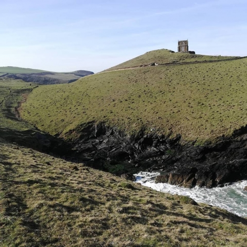 Beautiful Doyden Castle and Port Quin Headland