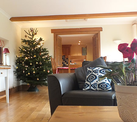 Christmas at Ocean Blue holiday cottage, near Port Isaac, North Cornwall